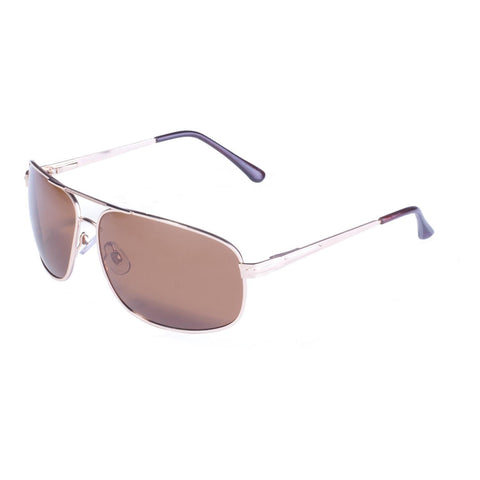 BluWater Gold Frame w- Spring Hinge and Brown Polarized Lens