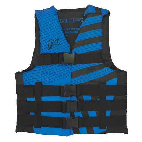 Airhead Trend Mens Closed Side Life Vest-XS-Blue-Black