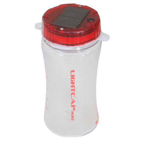 Davis LightCap 300 Solar Lantern-Water Bottle - Red