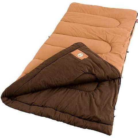 Coleman Dunnock 81x39 Inch Rectangle Sleeping Bag Orng-Brwn