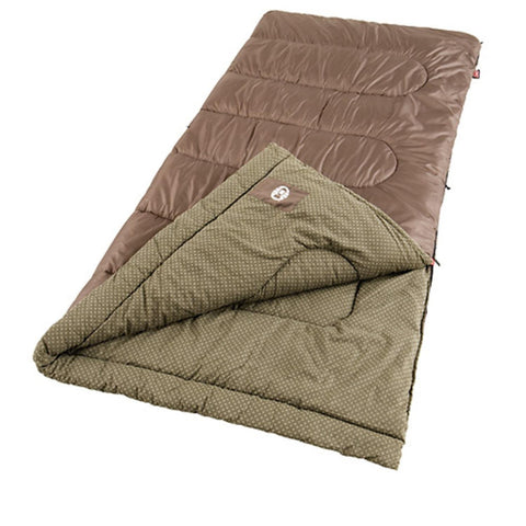 Coleman Oak Point 81x39 Inch Rectangle Sleeping Bag Bwn-Grn