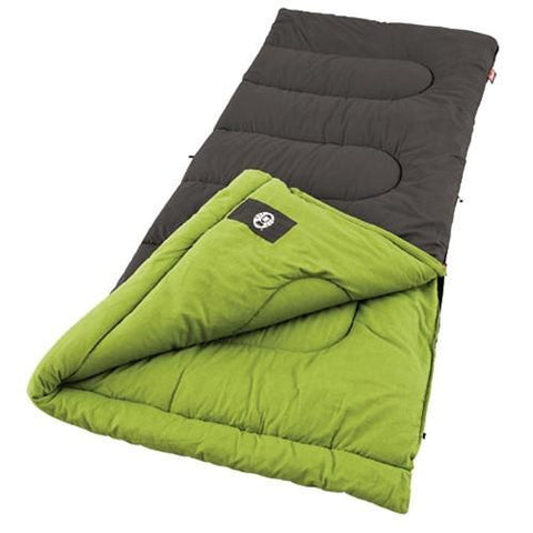Coleman Duck Harbo75x33 In Rectangle Sleeping Bg Brown-Green
