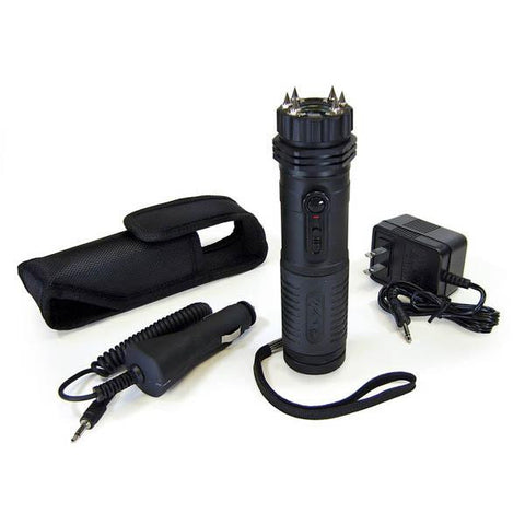 Stun Gun-Flashlight, 1 Million Volts, w-Spike Electrodes