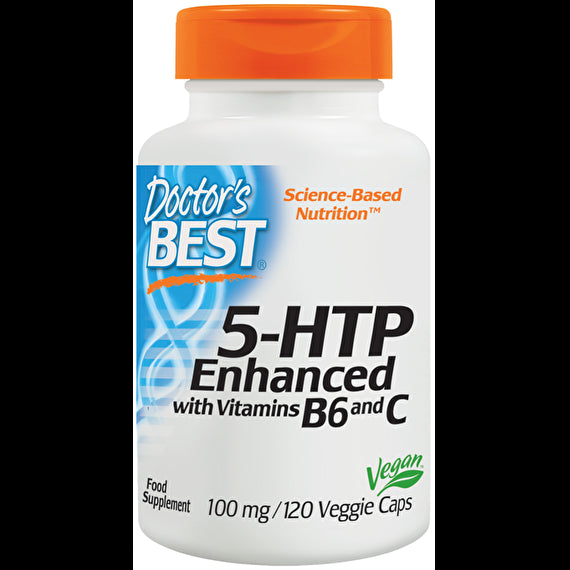 Doctor's Best 5-HTP Enhanced with Vitamins B6 120 Veggie Caps