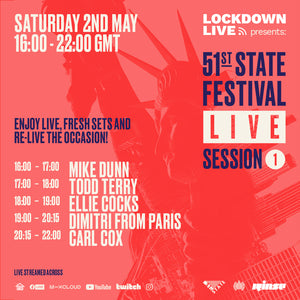 51ST LIVE STREAM SESSIONS 1 - SET TIMES
