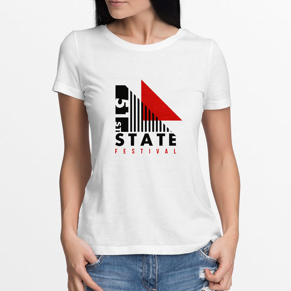 51 State Graphic Print Tee - Ladies
