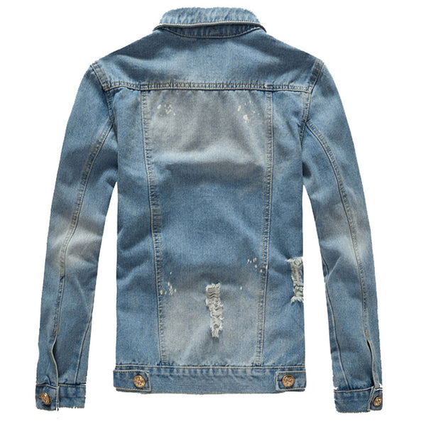Light Blue Denim Jacket Back