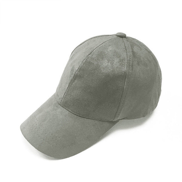 Dark Grey Suede Cap