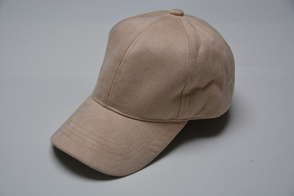 Light Pink Suede Cap