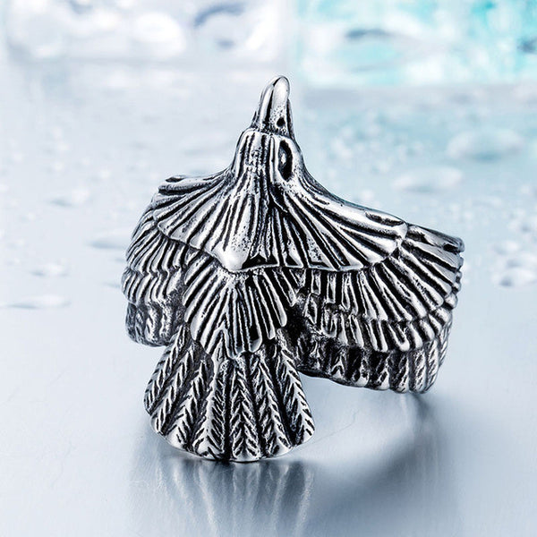 White Soaring Eagle Ring