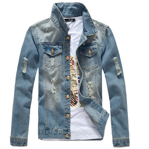 Light Blue Denim Jacket Front