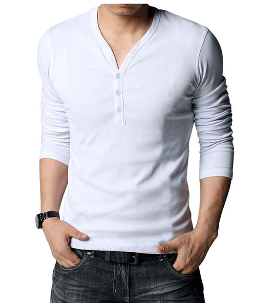 White Henley Shirt