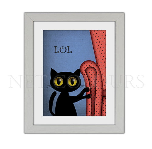 LOL Cat Framed Print