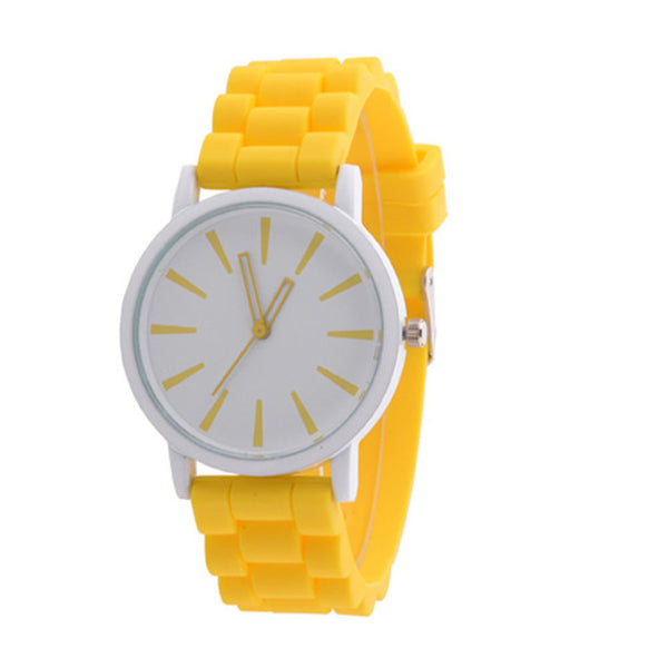 Women Fashion Quartz Watch Silicone Rubber Jelly Sport