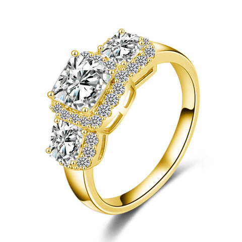 Women's Gold /Silver Plated Cocktail Ring Weddings Engagements