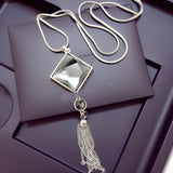 Lemon Value Fashion Triangle Crystal Glass Tassels Pendant