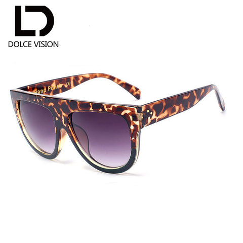 2017 Dolce Vision Flat Top Oversize Sunglasses
