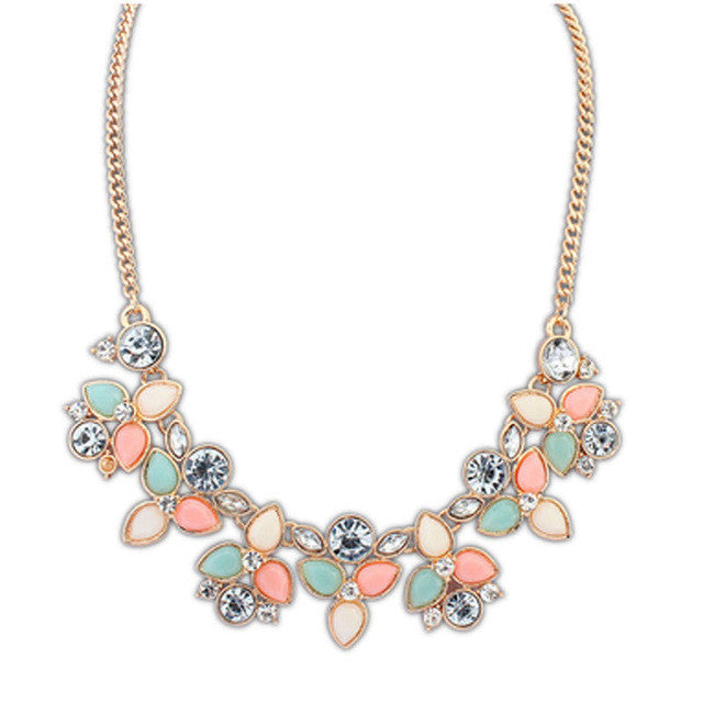 Women's Jeweled Statement Necklace
