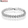 New Wedding Charm Bracelet Silver Color Zircon Women Jewelry