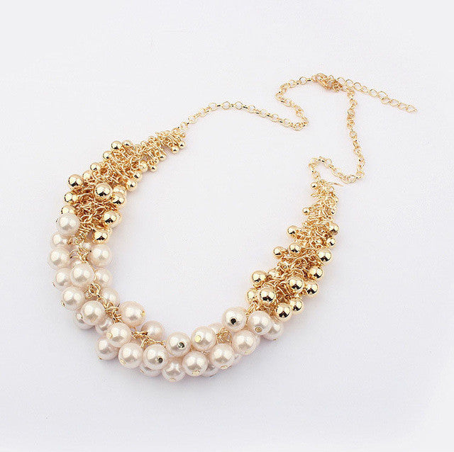 Match-Right Hot New Simulated Pearl Choker Necklace