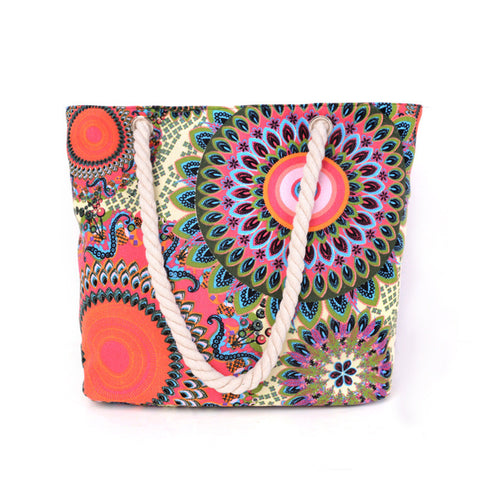 Brand New Women Floral Vintage Canvas Handbags