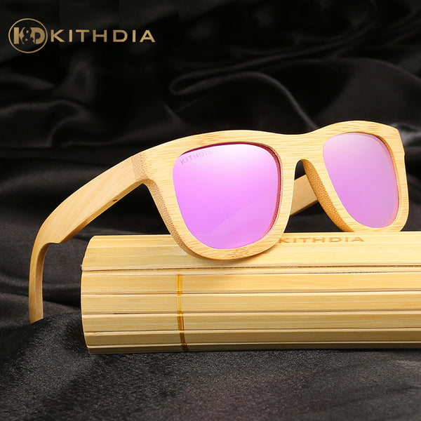 KITHDIA Women's Original Wood Bamboo Sunglasses