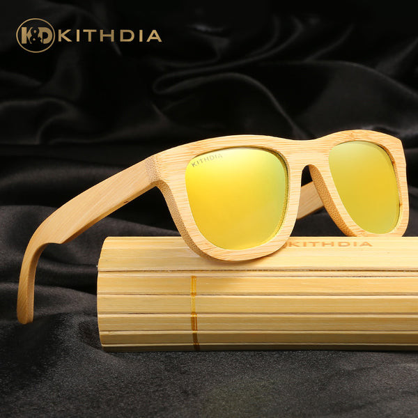KITHDIA 2017 TOP Brand Designer Men Wood Bamboo Sunglasses