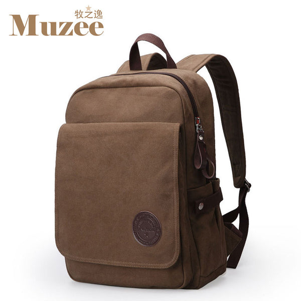 Muzee New Student Laptop Fashion Casual Canvas Backpack