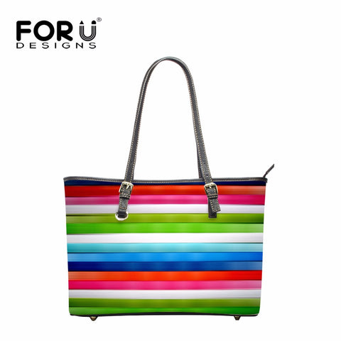 FORUDESIGNS New Fashion Women Leather Colorful Shoulder Bag