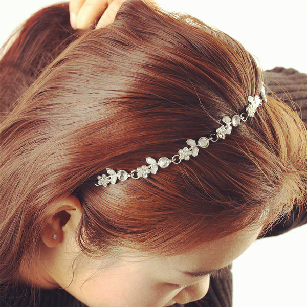 Chic Women Hair bands Metal Rhinestone