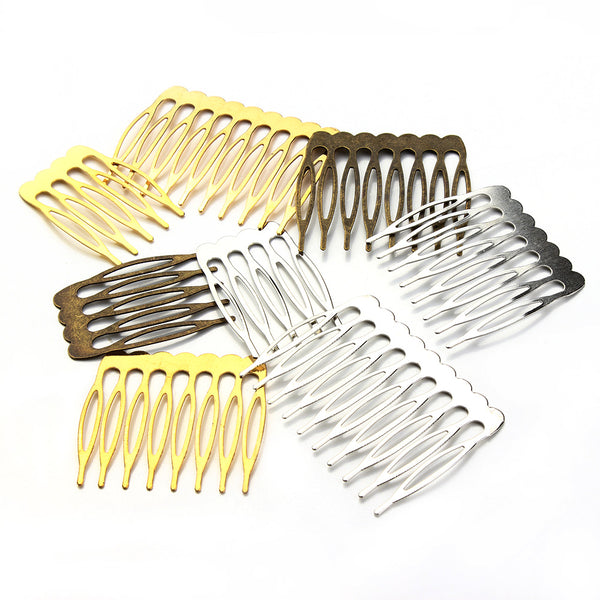 10pcs/lot Antique Gold/Rhodium/Bronze Color Bridal Hair Combs