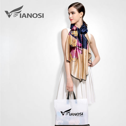 [VIANOSI] Women Fashion Bandana Luxury Scarves