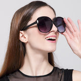 Luxury Women Oversized Female Sport Sunglasses Tide 9550