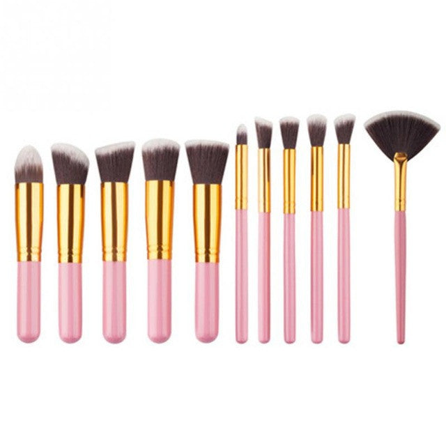 EYESHADOW BRUSHES KIT (10 PCS)