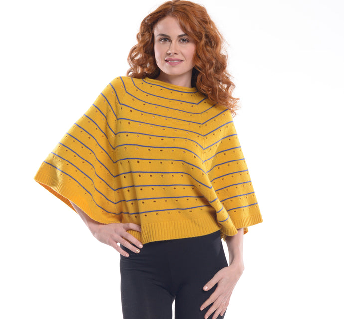 Uma Tyler Women's Cashmere Blend Pullover Poncho