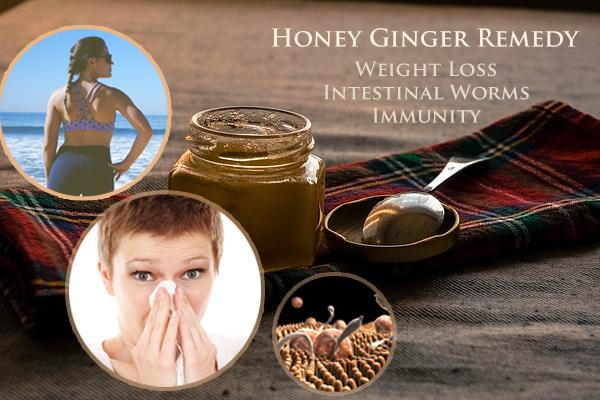 Honey Ginger Remedy For Weight Loss, Immunity, Worms + More