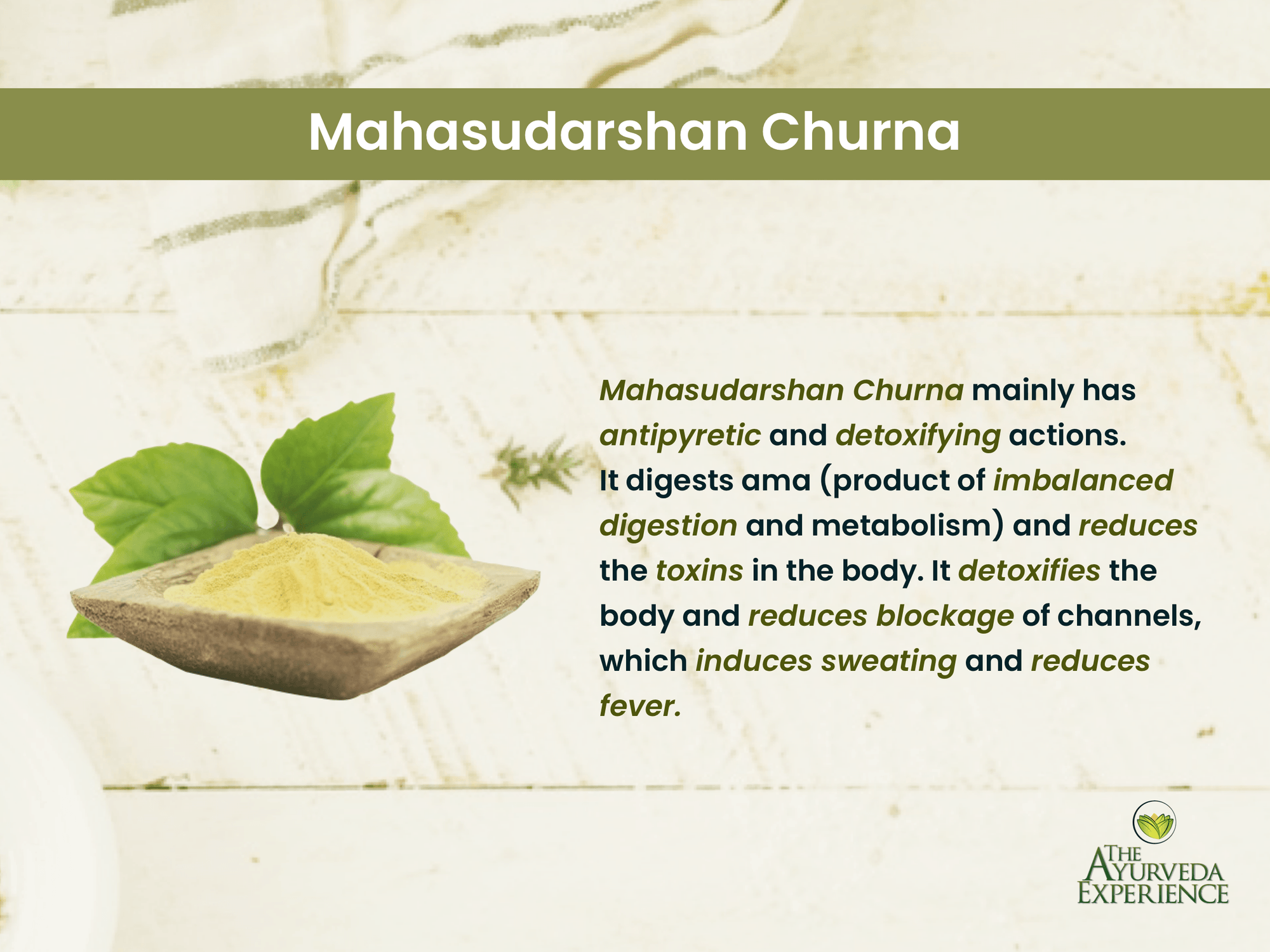 Manage all types of fevers with Mahasudarshana Churna