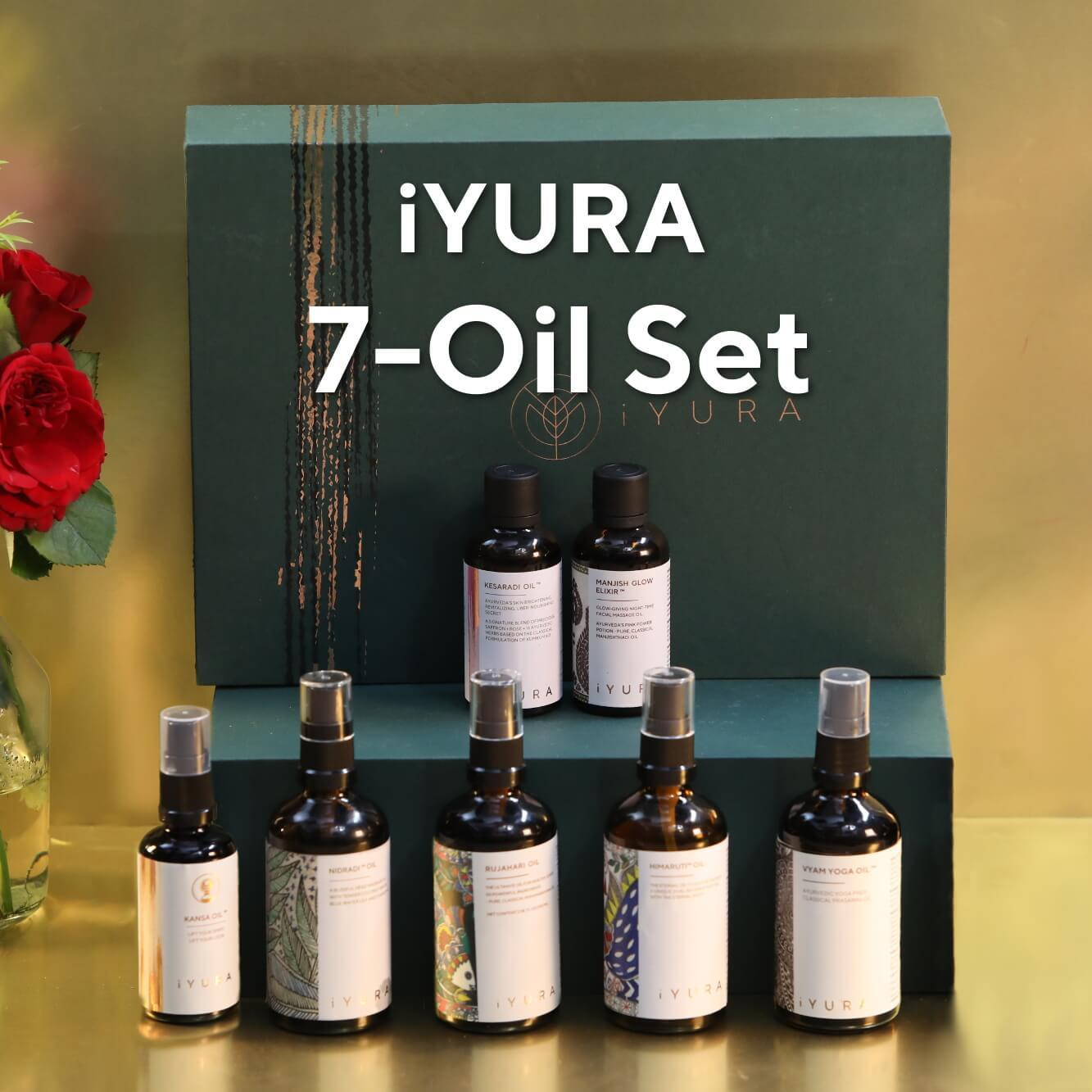 iYURA 7-Oil Set Hair-Face-Body Set iyura