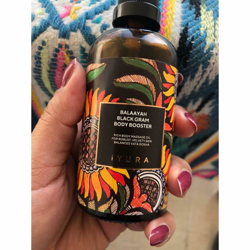 Balaayah Black Gram Body Booster Body Oil iYURA