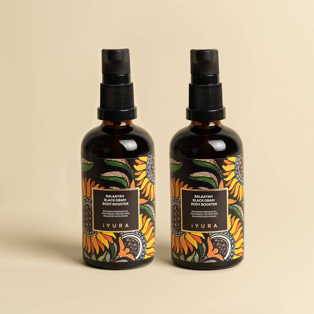 Balaayah Black Gram Body Booster - Pack of 2 Body Oil iYURA