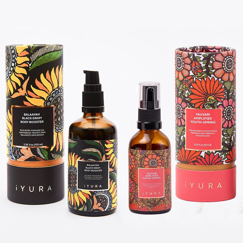 Black Gram Face & Body Duo - Best Moisturizers for Dry Skin - Natural Skincare for Glowing Skin Beauty set iYURA