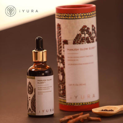 Manjish Glow Elixir Night-time face oil iYURA
