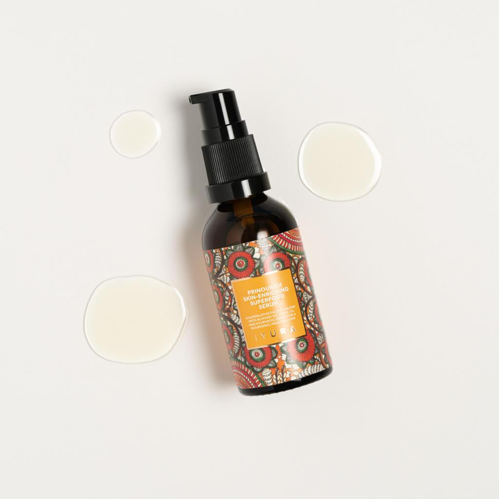 Prinourish Skin-Enriching Superfood Serum - With Almond Oil, Olive Oil, Turmeric, Mango and More Ayurvedic Herbs Face oil iYURA