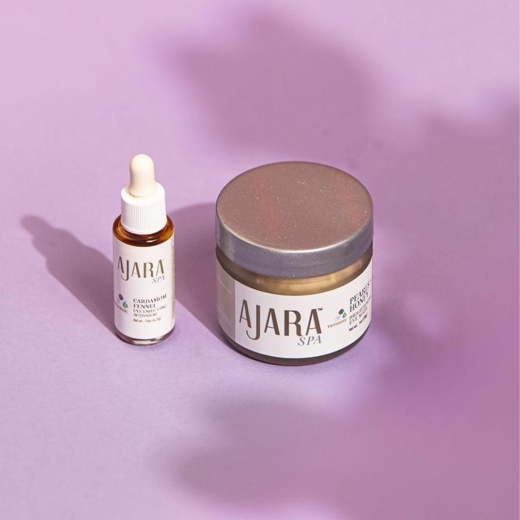 Ajara Eye Fortifying Duo: Pearl-Honey Brightening Mask + Cardamom-Fennel Intensive Eye Activator