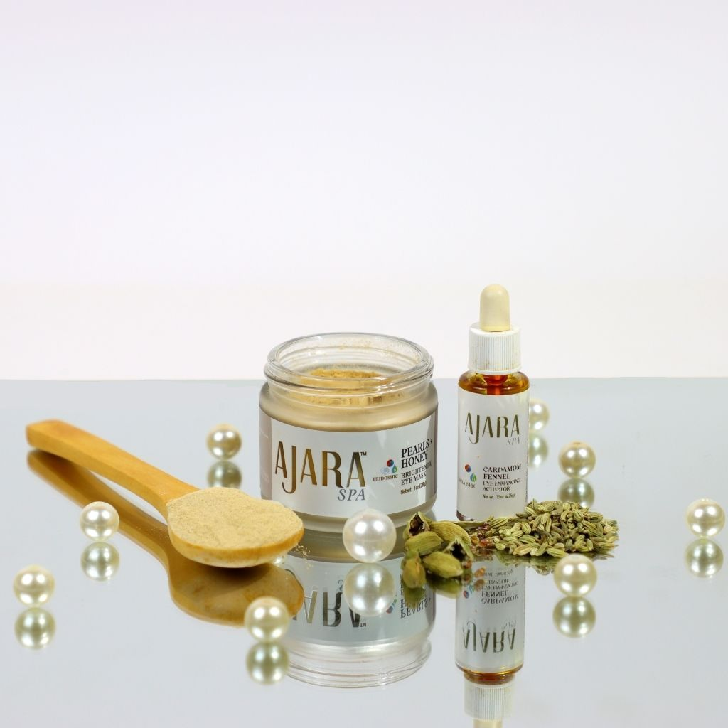 Eye Fortifying Duo: Pearl-Honey Brightening Mask + Cardamom-Fennel Intensive Eye Activator