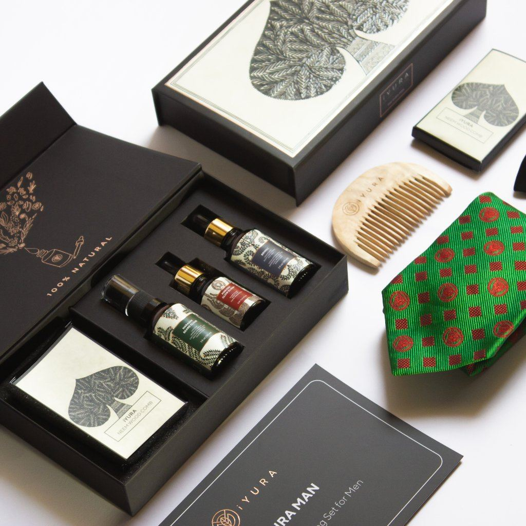 The iYURA Man - Face, Hair and Beard Grooming Set for Men