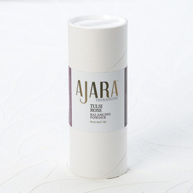 Ajara Tulsi Rose Balancing Body Powder Ajara Ayurvedic Beauty