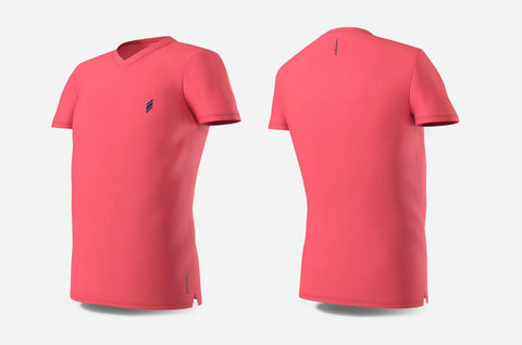 Eye V-Neck (Peach/Navy)