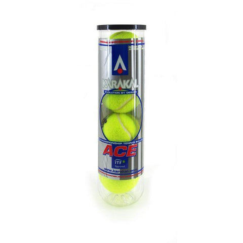 Karakal Ace ITF Approved Championship Tennis Balls x4 - FluxSports.co.uk