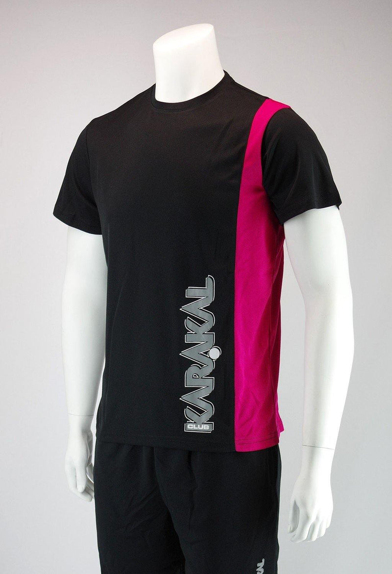 Karakal Club Tee Black & Pink - FluxSports.co.uk